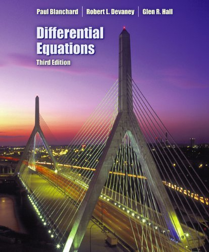 Differential Equations (with CD-ROM) by Paul Blanchard (2005-09-19)