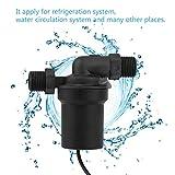 Dailyinshop 12 V 3 Mt / 24 V 6 Mt Bürstenlosen DC Pumpe Gas Solar Elektrische Warmwasserbereiter Booster Pumpe Heizung Umwälzpumpe Schwarz (Farbe: schwarz)