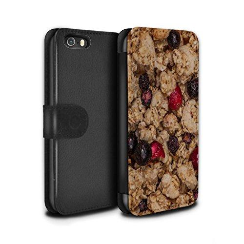 Stuff4 Coque/Etui/Housse Cuir PU Case/Cover pour Apple iPhone 5/5S / Golden Nuggets Design / Céréale Collection Granola/Baies