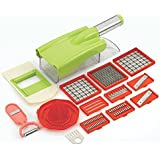 Ritu Stainless Steel High Quality 12 In 1 Fruits And Vegetable Cutter - Chipser Slicer, Grater, Peeler- All In One