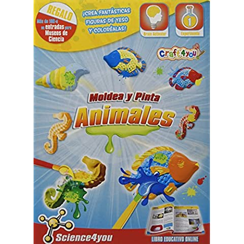 Science4you Kit para moldear y pintar animales - Juguete científico y educativo