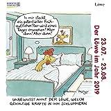 Löwe Mini 2019: Sternzeichenkalender-Cartoon - Minikalender im praktischen quadratischen Format 10 x 10 cm.