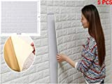 5 pezzi 77*70cm 3D Carta da Parati Mattoni Autoadesiva Wallpaper Brick Adesivi Murali Muro