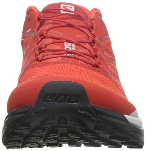 Salomon L39121500, Chaussures de Randonnée Mixte Adulte, Noir Rouge