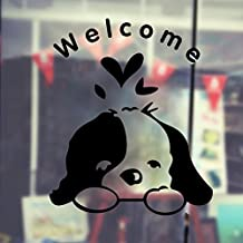 Pegatina de pared adhesiva perrito bienvenido