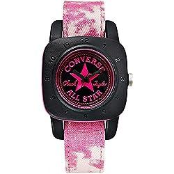 Converse Women's 36mm Purple Leather Band Steel Case Quartz Analog Watch VR029-600