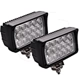 LED Arbeitsscheinwerfer, JieHe Led Scheinwerfer 45W LED Barre Faro 3600LM Led Arbeitsscheinwerfer 12v-36v Spotlight Reflektor Car LED Work Light Auto Arbeitsleuchte Off-road ATV SUV (2 pcs)