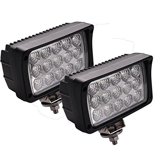 Faro da Lavoro,JieHe 45W Led Light Bar Led Barra Led Auto Esterni fari Impermeabile IP67 lampada luce di Lavoro per off-road Camion Per Auto ATV SUV (2PCS) (45W)
