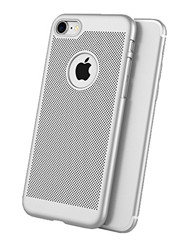 Iphone Silber Sechs (iPhone 6 Hülle, Aostar Atmungsaktives Handyhülle Case Cover Bumper Schutzhülle Vollschutz Etui Schale für iPhone 6 (4,7inch) (iPhone 6, Silber))