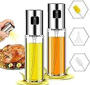 Oil Sprayer for Cooking, 2Pack Olive Oil Sprayer,Spray Bottle Olive Oil Sprayer Mister for Cooking,Transparent
