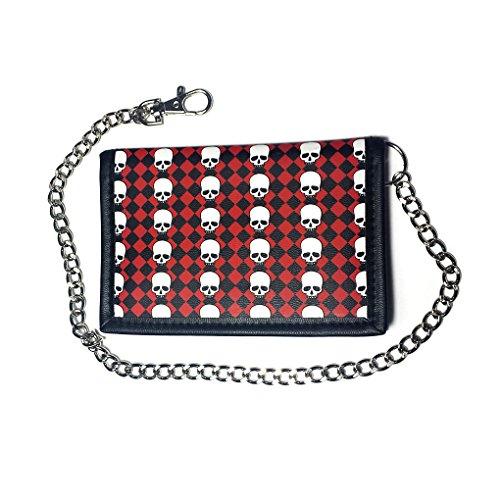 Portafoglio con catena in caso di colori e motivi, 141 (Nero) - 22410 165