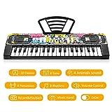 TWFRIC Kids Keyboard 37 Keys, Kids Piano Keyboard Musical Keyboards for Kids Girls Boys Toy Pianos Keyboard with Music Book Bracket