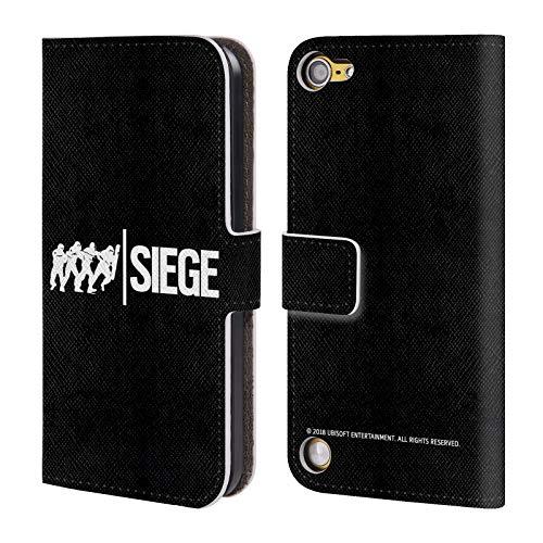 Head Case Designs Offizielle Tom Clancy's Rainbow Six Siege Angriff Logo Leder Brieftaschen Huelle kompatibel mit Touch 5th Gen/Touch 6th Gen Sieg Ipod