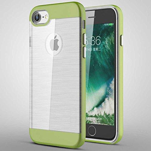 """iPhone 7 Coque, AOFad Case Mince Protection des lourds 2-à-1 Jaune TPU Avec 11 Colors Tréfilage Accessoires Série Pour Femme Homme 4.7"""" I695 AOFad B306"""