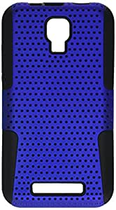 Aimo Wireless ZTEV8000PCPA002 Hybrid Armor Cheeze Case for ZTE Engage V8000 - Retail Packaging - Black/Blue