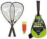 Talbot Torro Speed 5500, Set da Badminton, 2 Racchette in Alluminio da 56.5 cm, 6 Volani Veloci e Resistenti al Vento Uomo, Taglia Unica