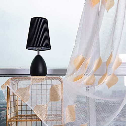 ToDIDAF Transparente Gardinen Vorhang, 2 Stoffbahnen Unregelmäßige Patten Gardine Tüll Fenster Behandlung Voile drapieren Volant für Zuhause Wohnzimmer Schlafzimmer Dekoration 100 x 200 cm (Gold) (Kinder-schlafzimmer Gardinen Für Stangen)