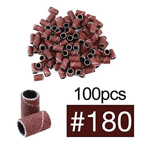 Tseria 100 piezas papel lija arte uñas brocas uñas