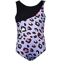 ephex Niños niña Camiseta balett Traje leopardo, color morado, tamaño 130