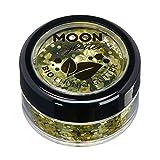 Biologisch abbaubarer Öko-Glitter von Moon Glitter - 100% kosmetischer Bio-Glitter für Gesicht, Körper, Nägel, Haare und Lippen - 3g - Gold