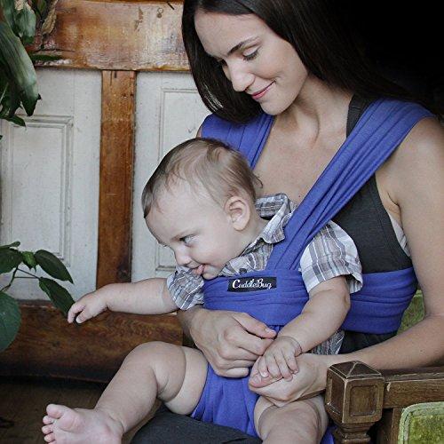 Babytragetuch – CuddleBug Babytrage – mit Gratisversand – Baby Carrier Sling – tragetuch baby (blau)