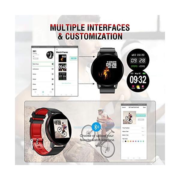 Smartwatch Deporte para Mujer Hombre con Pantalla Completa Táctil Monitores de Actividad Impermeable Outdoor Fitness… 7