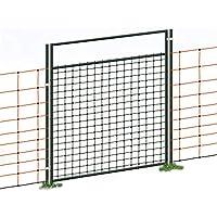 Puerta acceso a cercado eléctrico con malla electrificada, electrificable, para pastor eléctrico, 105cm