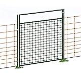 Porta per recinzioni elettriche, altezza 105 cm, collegabile/elettrificabile, set completo
