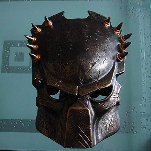 CHENJJ Masken Terrorist Wolf Maske Kopfbedeckung Ganze Person Lustige for Halloween Dämon Helm Show Requisiten Beängstigend Beängstigend