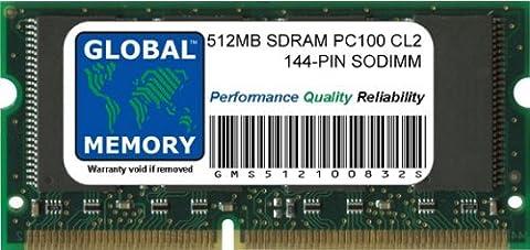 512Mo PC100 100MHz 144-PIN SDRAM SODIMM MÉMOIRE RAM POUR CLAMSHELL/NEIGE IBOOK G3 & POWERBOOK G3/G4