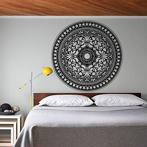 Moderne schlafzimmer kopfteil wandaufkleber mandala muster yoga applique vinyl künstler dekoration 59x59 cm - Schlafzimmer Moderne Kopfteil
