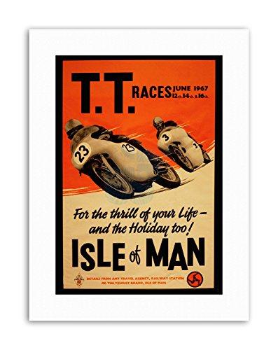 Wee Blue Coo LTD TT Races Bikes ISLE of Man TT Races 1967 New Poster Picture Sport Canvas Art -