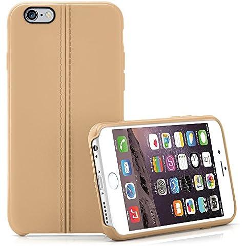 Caja del teléfono de alta calidad para iPhone 6 / 6S | Funda de silicona en el diseño elegante de cuero | Caso celda de protección OneFlow | Backcover en Sienna