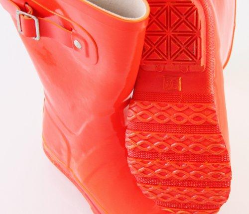 EN-FANT mixte bottes de pluie en caoutchouc, rouge orangé, taille 35, 812900U-12 rouge orangé