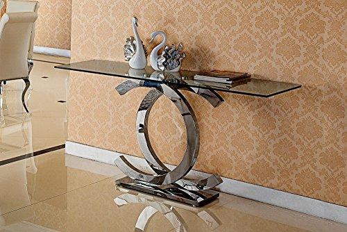 HG Royal Estates GmbH Christy Designer Spiegelkonsole Schminktisch Sideboard Konsole Glas Edelstahl -