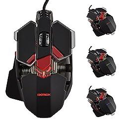 EKTROX EX20 Gaming Maus 4000 dpi mit 10 Tasten, LED, USB kabelgebunden, optisch
