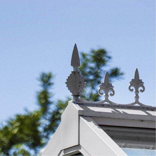 Nordic Gartenhaus-Kreuzblume, Firstabschluss, weiß, versch. Ausführungen Gozo SL1300