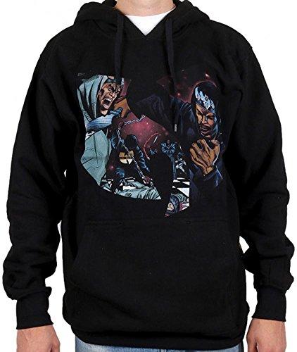 Wu-Wear GZA Liquid Swords Black Wu-Tang Clan Wu Tang Hoody Hoodie Sweater Black