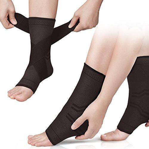 Beautystar Plantarfasziitis Socken Kompression Socken für Knöchel und Ferse Arch Support Ärmel, Schmerzlinderung, verbesserte Blutzirkulation, Recovery, ideal für Läufer mit atmungsaktiv Kompression Bandage Wrap (Ein Star Knöchel-socke)