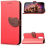 OnePlus 6 Case, Codream [ Portable Wallet ] [ Slim Fit ] Heavy Duty Protective Phone Case Flip Cover Wallet Case Compatible With OnePlus 6 - Red