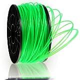 Kaisertech Filament für 3D Drucker 1kg PLA / ABS 1.75mm / 3mm - Premium Qualität & verschiedene Farben für MakerBot RepRap MakerGear Ultimaker uvm. (PLA 1.75mm, Transparent Grün)