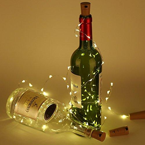 ck zusammen) mit Schraubendreher von iado, 20 leds Flaschenlicht mit warmweiß licht, Lichterketten als Deko für Party, Garten, Schlafzimmer, Weihnachten, Halloween und Hochzeit (Led-halloween)
