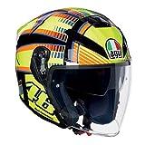 AGV casco da motociclista K 5Jet E2205Top, Sole Luna Giallo, Taglia MS