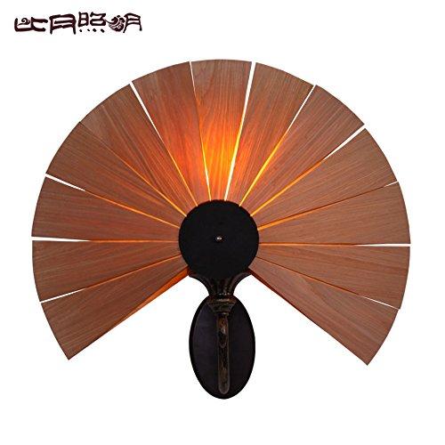 Impiallacciatura comodino Southeast Asia lampada bedroom soggiorno luci personalità creative corsia lampada da parete 500*440mm ,legno di ciliegio