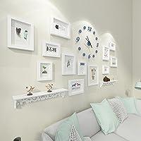 Kaige Combinación de marcos de fotos Foto marco pared reloj portaretrato colgante pared salón marco combinación