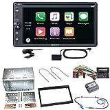Sony XAV-AX205DB CarPlay Android Auto Digitalradio Bluetooth USB CD DVD Autoradio Touchscreen Moniceiver Einbauset für Peugeot 207 307 Partner Expert