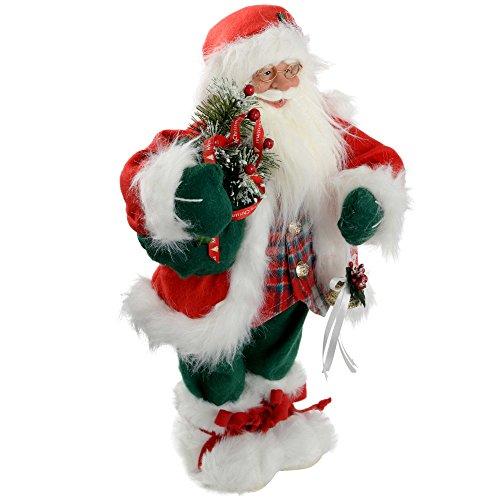 "WeRChristmas Festive Sparkle - Figura decorativa de Papá Noel, 45,7 cm (18"")"
