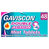 Gaviscon Heartburn and Indigestion Tablets, Double Action, Mint Flavour, Pack of 48