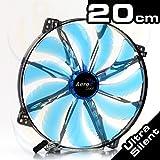 Aerocool Silent Master Gehäuselüfter (LED, 200mm) blau