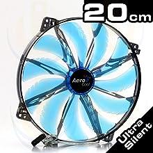 Aerocool Silent Master Ventola da 200 mm a 800 Giri, Nero